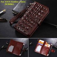 For ASUS Zenfone 2 laser ZE500KL Case Luxury Flip Leather Phone Case For Asus Zenfone 2 laser 5.0inch Card Slot Wallet Cover