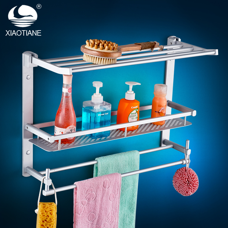 ФОТО Xiaotiane bathroom hardware accessories bathroom towel rack towel rack space aluminum shelf
