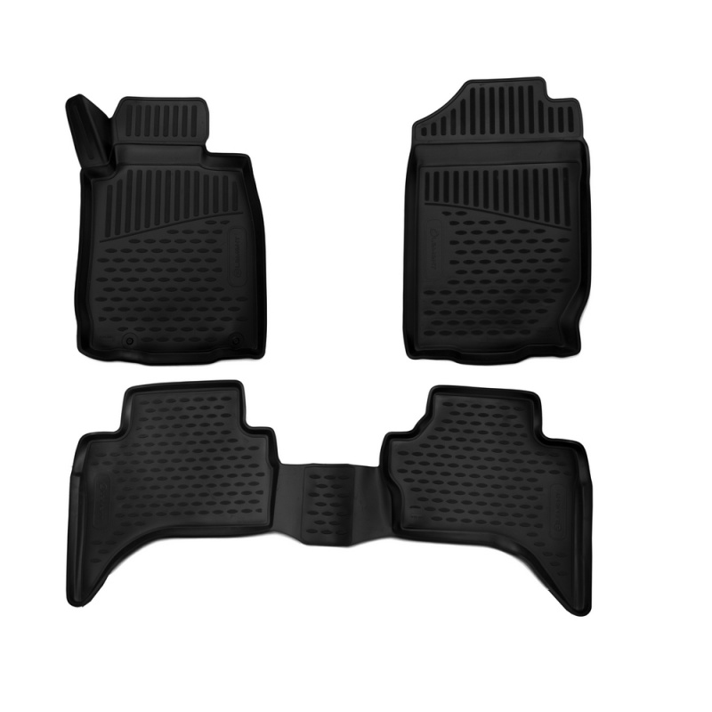 Фото - Car Mats 3D salon For MITSUBISHI L200/Triton Manual & automatic, 2016-> double Cab... right steering wheel, 3 PCs (polyurethane) rs04s 01 electronic heating steering wheel cover