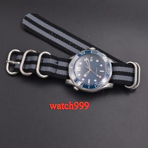 Image 4 - 41mm BLIGER שעון גברים סטרילי חיוג זוהר קרמיקה לוח מוצקה 316L מקרה ספיר קריסטל ניילון רצועה אוטומטי גברים של שעון