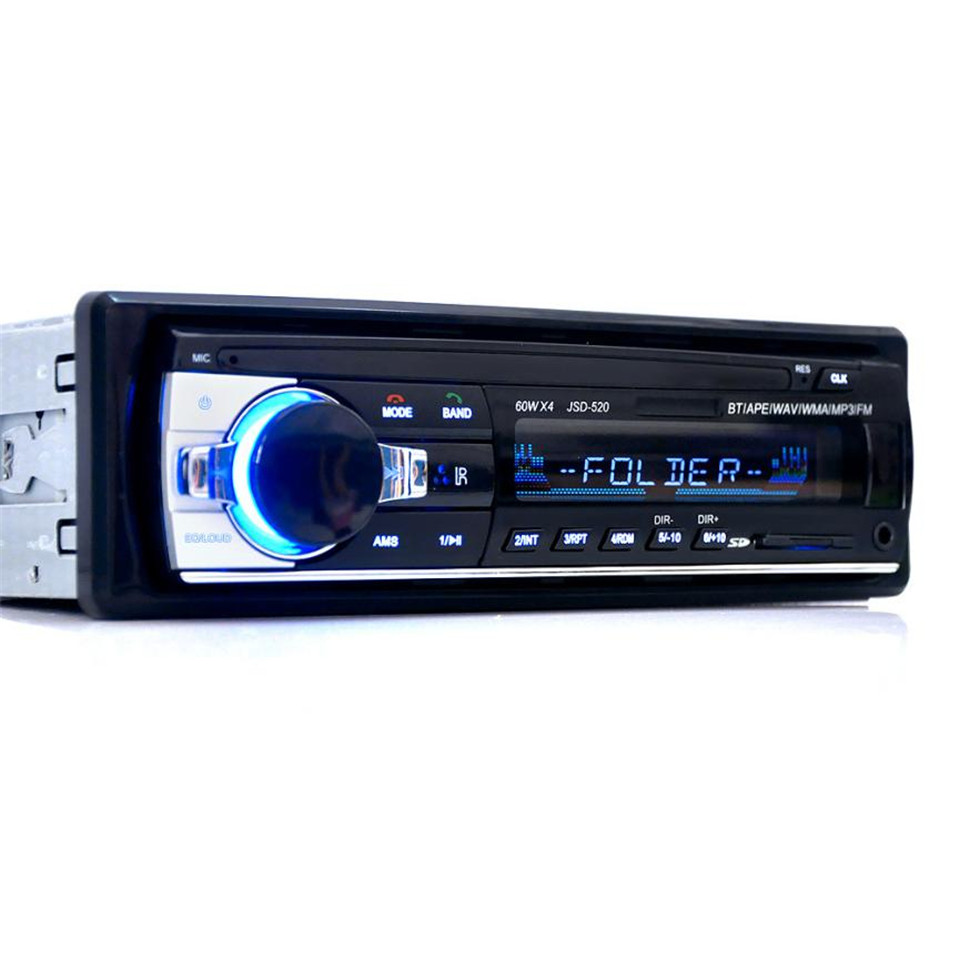 100%new JSD 520 Bluetooth Car In Dash Stereo FM AUX Receiver Audio 1 DIN USB MP3 Radio Car-Styling BT/APE/WAV/WMA/MP3/FM player image