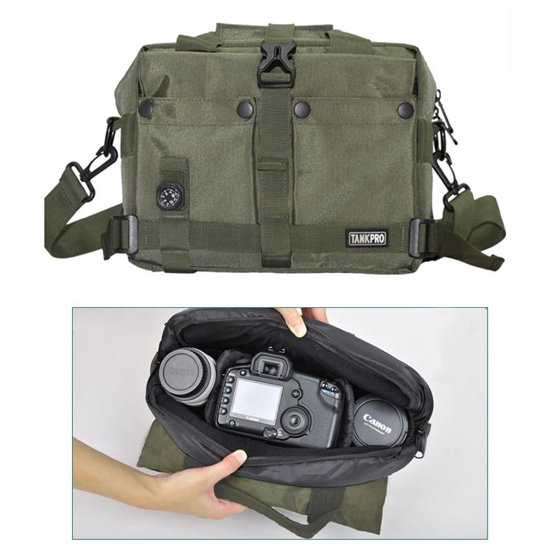 Roadfisher Army Green Black Waterproof Camera Video DV Photo Bag Insert  Brief Case For Canon Nikon Sony DSLR SLR Camera Lens 3d0f368704186