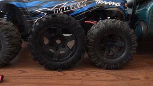 Image 2 - Rodas À Prova D Água resistente ao desgaste Do Pneu do caminhão do RC Monstro para TRAXXAS X MAXX X MAXX