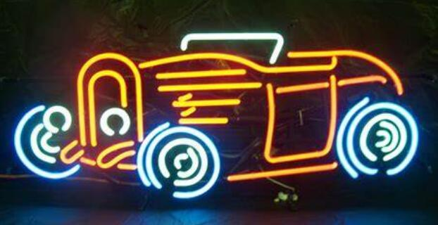 Custom Corvette Car Glass Neon Light Beer Bar 4