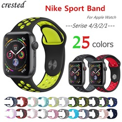 Silicone strap for apple watch band 42mm/38mm 44mm/40mm iwatch band 4/3 sport bracelet Rubber watchband For apple watch 4/3/2/1