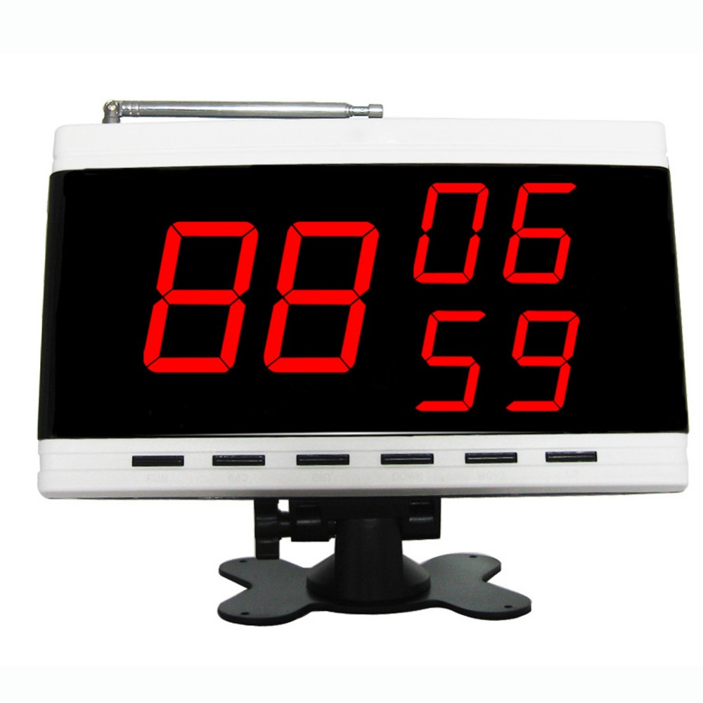 SINGCALL.Wireless servant paging system,waiter call button, table bell,display receiver, display 3 group number, restaurant wireless table bell system ce passed restaurant made in china good supplier 433 92mhz 2 display 45 call button