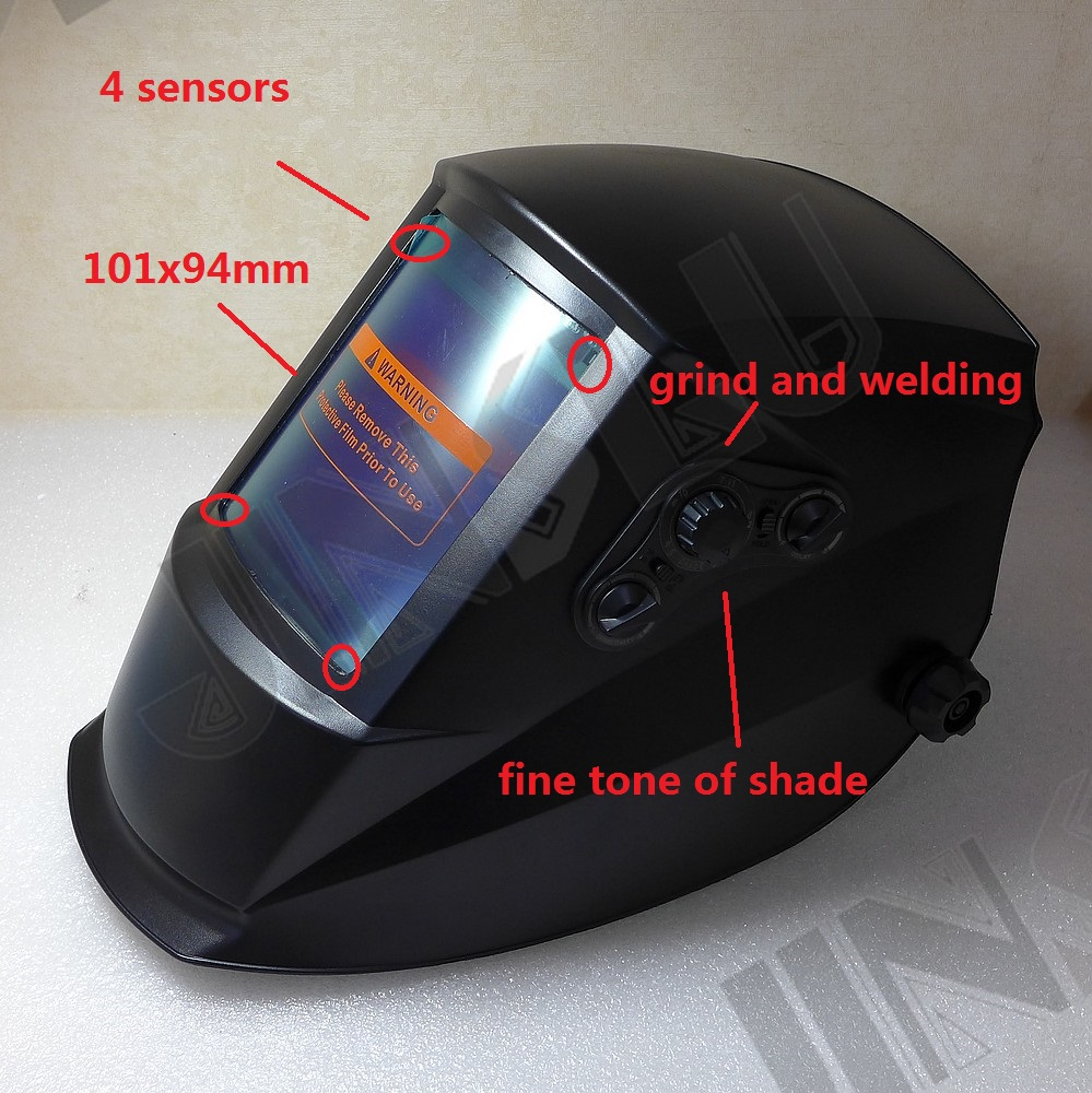 True Color 101x94mm Large View 2 in 1 Grind Welding Helmet TIG MMA MIG Welding Machine Welder professional welding wire feeder 24v wire feed assembly 0 8 1 0mm 03 04 detault wire feeder mig mag welding machine ssj 18