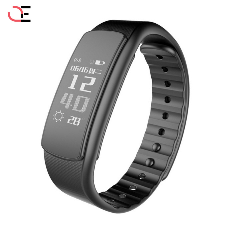 I6 Black Smart Wristband Heart Rate Monitor Smart Bracelet Waterproof Sport Watch Fitness Smart Wristwatch for Android iOS Phone mpow d6 smart bracelet for ios android phones