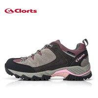New Clorts Woman Outdoor Hiking Shoes Suede Trekking Shoes Waterproof Climbing Shoes Women Sport Shoes HKL