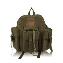 Toile hommes sac à dos urbain grande capacité utile pratique sacs à dos pockes cordon kaki caméra sac voyage sac à dos chaude XA202YL