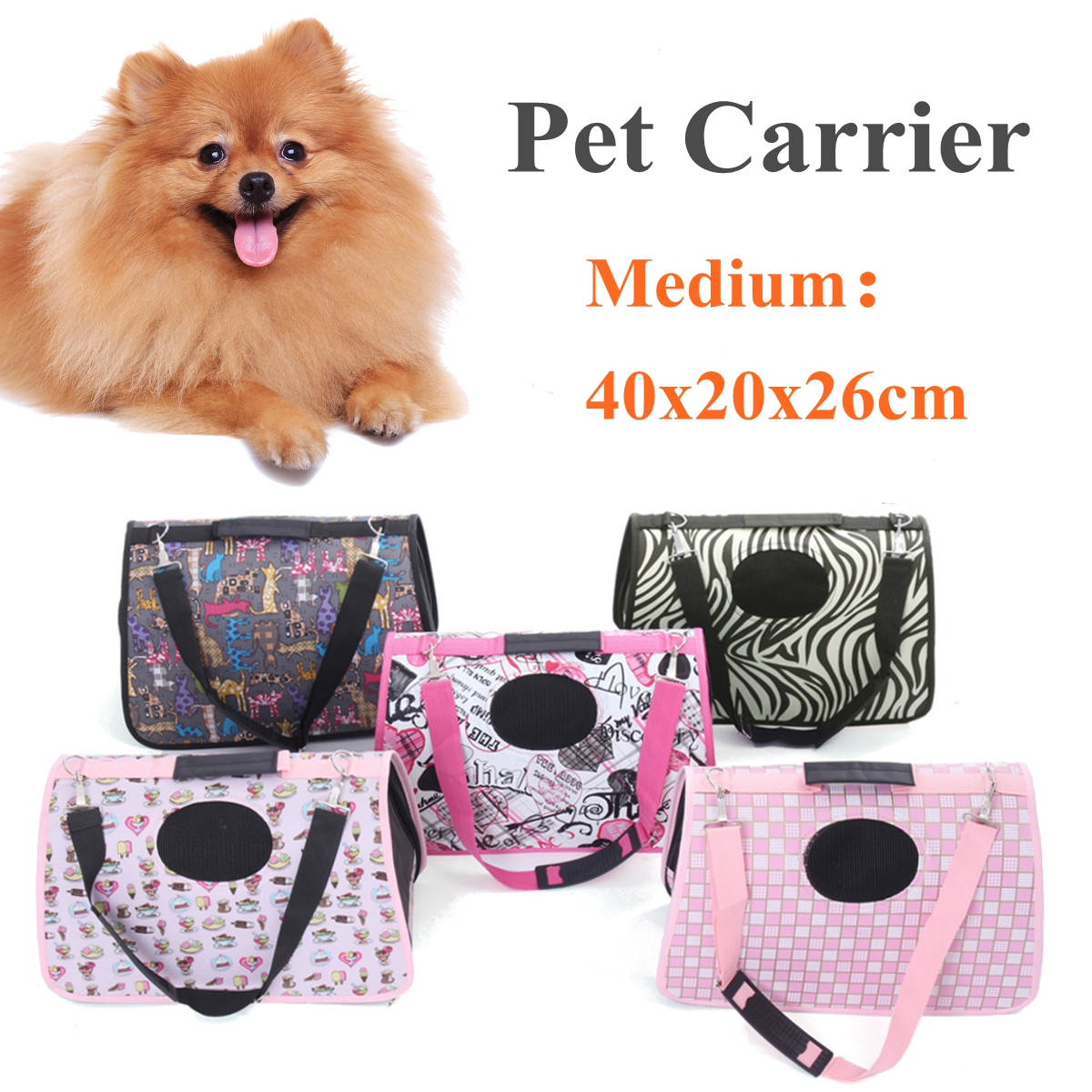 40x20x26cm Pet Carrier Puppy Dog Cat Outdoor Travel Shoulder Bag Carry Carrier Tote Cage Bag Crates Soft Kennel Pet Cage