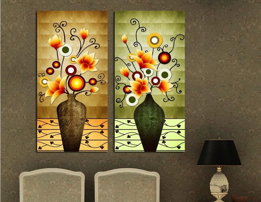 unidades florero retro vintage cuadros de la pared magnolia pintura al leo sobre camvas grandes
