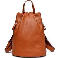 Разделение кожа Для женщин сумки модные женские туфли Рюкзаки Mochila IPad сумка-мешок