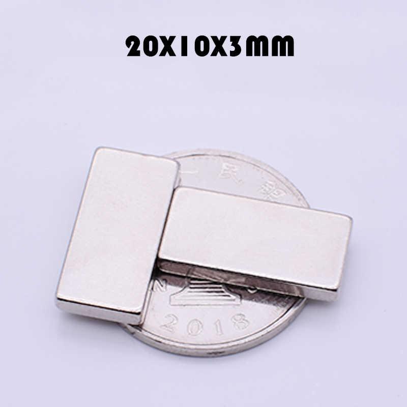 20 個 20 × 10 × 3 ミリメートルネオジムマグネットスーパー強力なブロック永久 N35 ネオジム強力な立方体磁気マグネット 20 ミリメートル × 10 ミリメートル × 3 ミリメートル