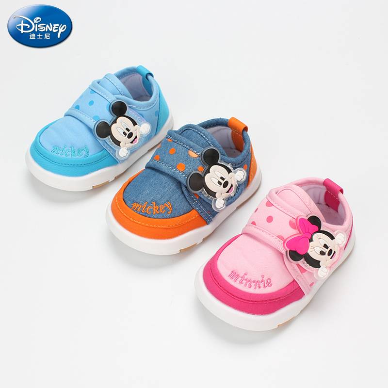 все цены на Disney 2018 autumn new children's casual shoes infants men and women indoor and outdoor anti-skid toddler shoes