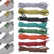 1Pair New Bright Colors Hiking Walking Two Toned Rope Laces Replacement Shoe Laces Round Rope Shoelaces For Basketball Boots цены онлайн