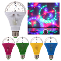 E27 3W Colorful Auto Rotating RGB LED Bulb Stage Light Party Lamp Green