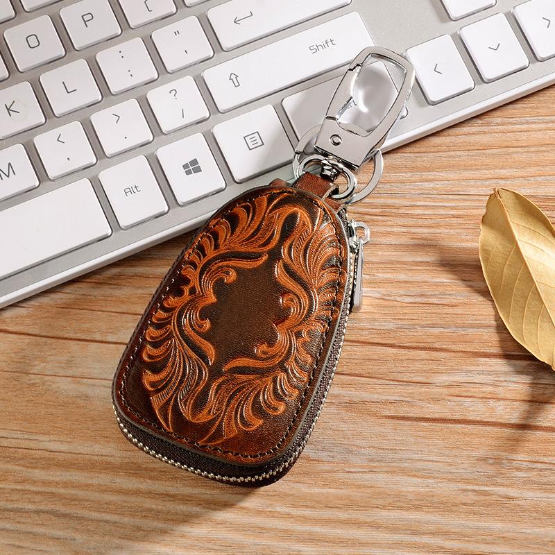 HTB196vRKhSYBuNjSsphq6zGvVXap - Osmond Men Women Genuine Leather Car Key Holders Housekeeper For Men Retro Multifunctional Home Keychain Case Female Key Wallet