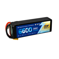 ZDF Lipo Battery 6600mAh Lipo 14.8V 4S Battery Pacl 35C Professional Drone for F5 UAV RC Batteries High Quality