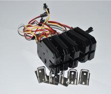 5 uds. De cerraduras electrónicas de larga vida para puerta de armario, con carcasa de Metal DC12V, Cerradura Electromagnética, con ahorro de energía
