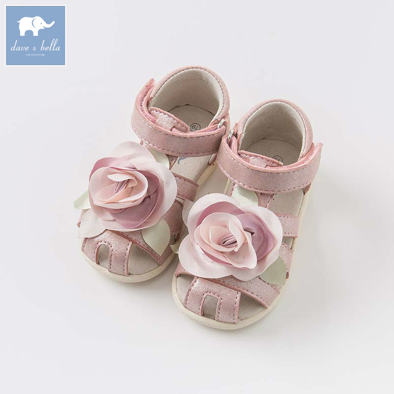 DB6994 Dave Bella summer baby girl pink sandals children shoes princess sandals