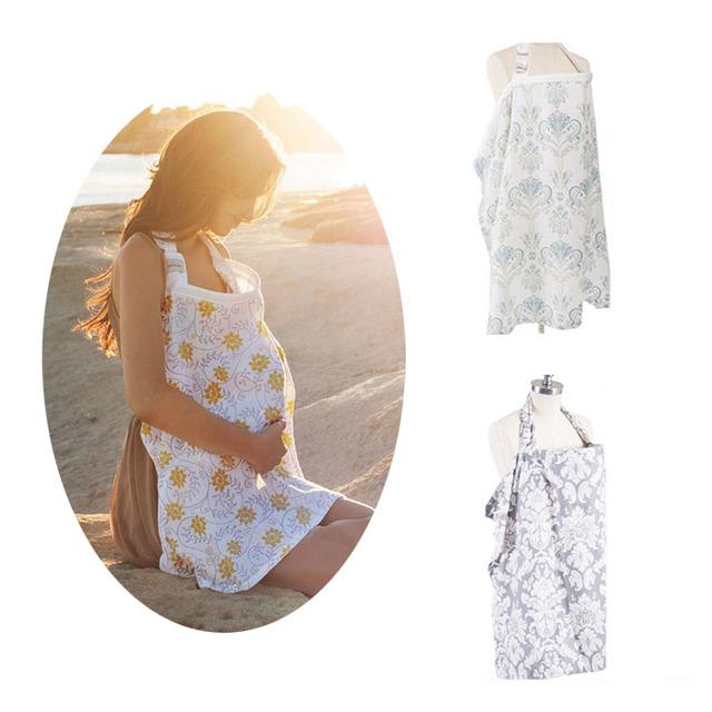 Vestidos de algodón de Enfermería en Periodo de Lactancia Mantón de Modestia Anti-exposición-MKA079 PT15