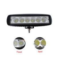 2pcs 12V LED Tractor Work Light Bar Flood Spot Beam 18W Werklampen Led Auto Lamp For