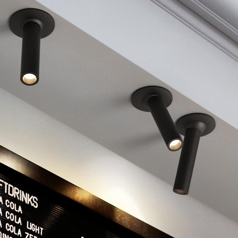 13 5cm 23cm 33cm high Tubular Small COB 7W Led high Spotlight Energy Saving Embedded Adjustable