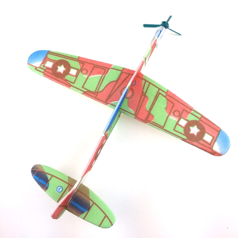 Mini Foam Handmade Throwing Flying Airplane Glider DIY Assembly Airplane Model Kid Toy W15