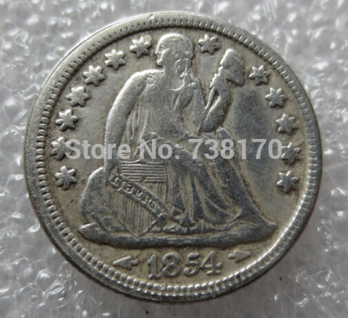 1854 Seated Liberty Dime Copy Coins
