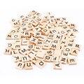 100 pcs De Madeira Do Alfabeto Scrabble Telhas Preto Letras & Números Para Artesanato Em Madeira