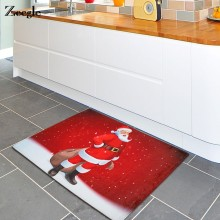 Zeegle Door Mat Christmas Claus Kitchen Mat Bathroom Carpet Home Decor Non-slip Floor Mat Coffee Table Area Rug(China)