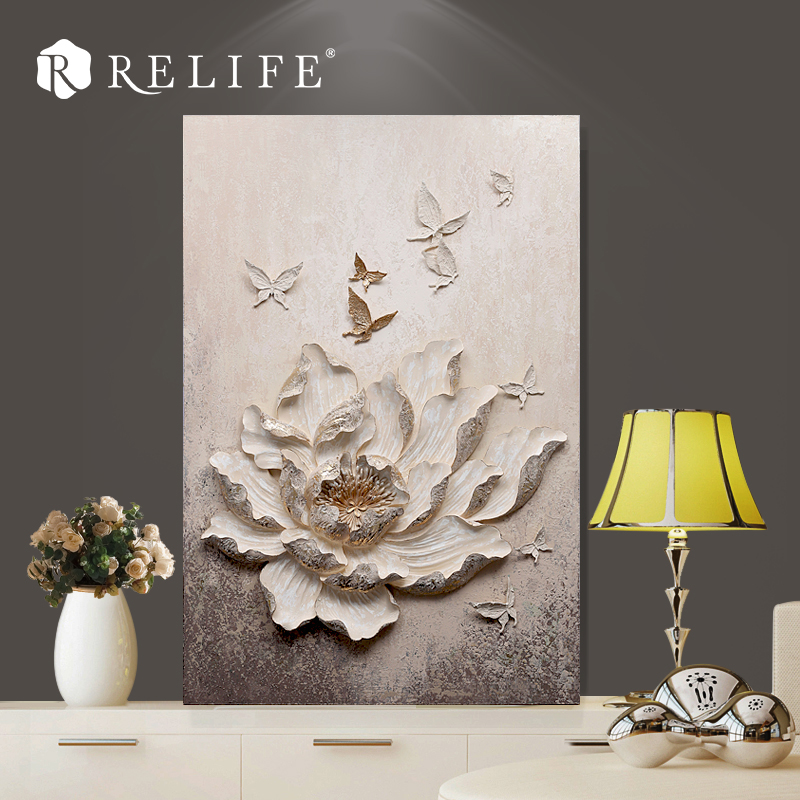 100x150cm White Flower Handpainted Art Work Pictures Home Decorative Oil Paintings