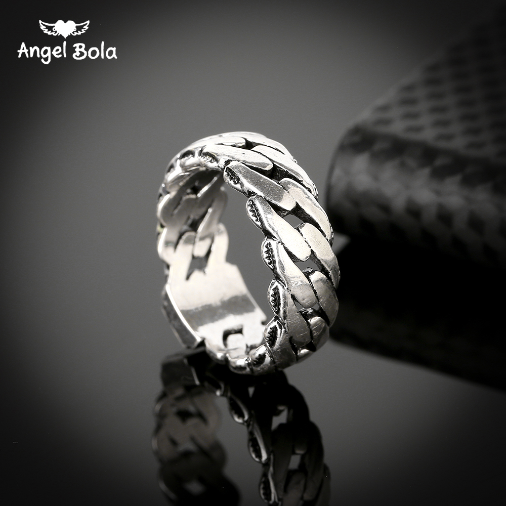 10pcs/lot 2017 Hot Sale Delicate Finger Ring Ancient Silver Punk Style Buddha Ring Snake Chain Ring for Cool Men Free Shipping