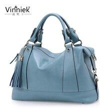 Весна и лето новая женская сумка из натуральной кожи Повседневная сумка с кисточками Модная брендовая сумка на плечо сумка-мессенджер