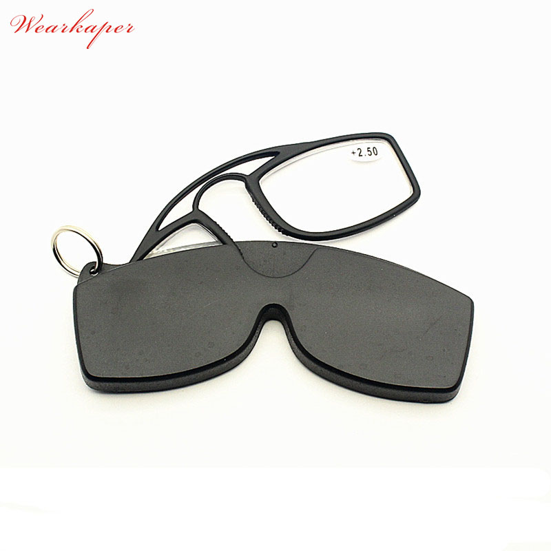 Wearkaper Wallet Sos Mini Folding Nose No Arm Keychain Reading Glasses Men Oculos De Grau Gafas De Lectura Small Glasses Pure And Mild Flavor Apparel Accessories