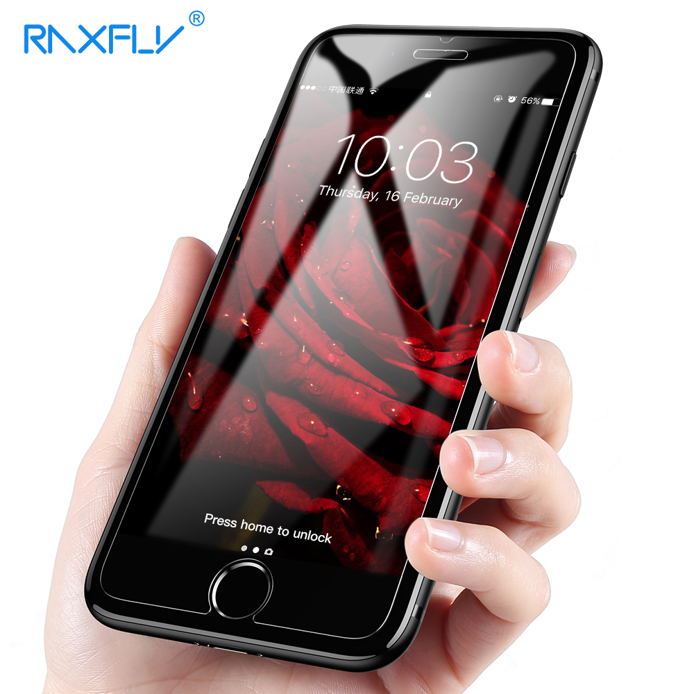 RAXFLY Full Protection Tempered Glass on Phone For iPhone 7 8 Plus Ultal font b Slim