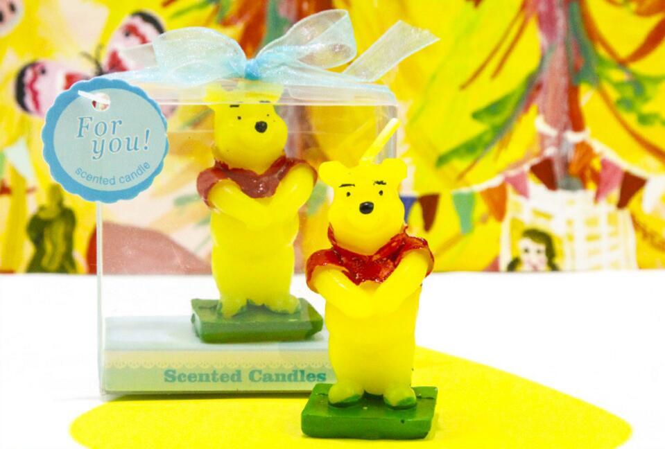 12 unids de dibujos animados Winnie the Pooh Bear velas con cuadros ...