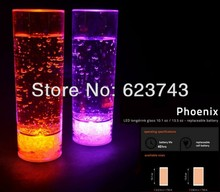 8 Pcs/Lot  Acrylic Flashing LED Tall Drinking Highball Glasses 300ml Tumblers Wine Beer Cola Cup Mug Glowing For Party/Bars