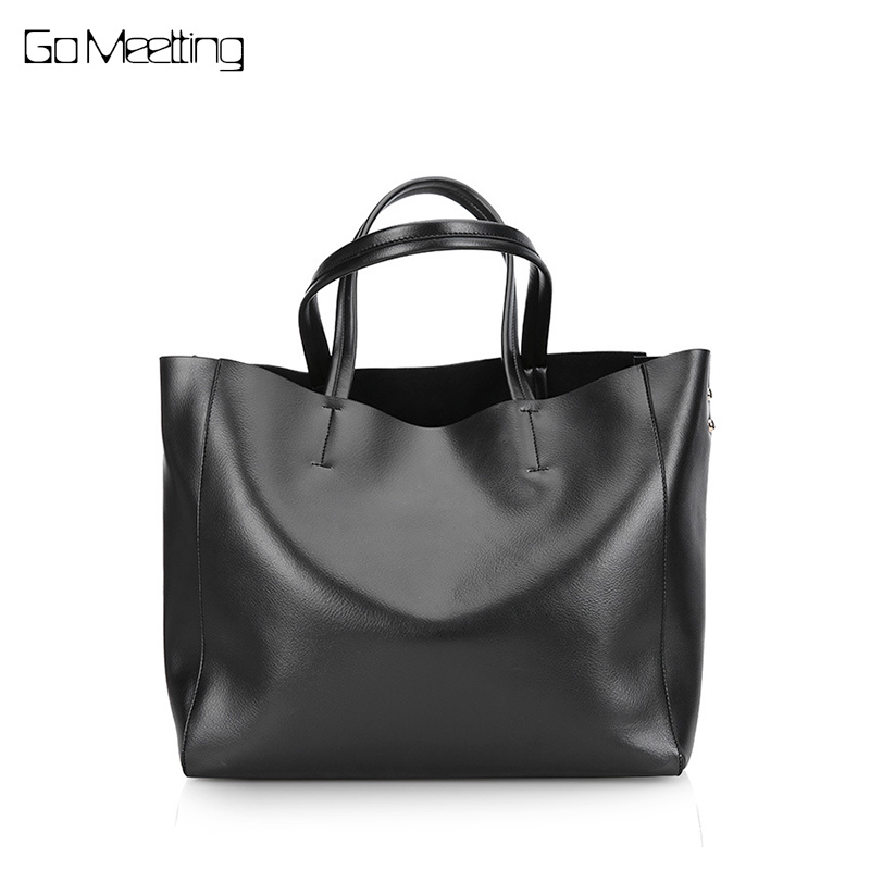 Go Meetting Genuine Leather Bag Ladies Handbag Women Shoulder Bag Female Tote Large Shopping bags for women 2018 bolsa feminina arlanfivis genuine leather bags for women luxury large capacity handbag new 2018 fashion bolsa feminina ladies tote shopping bag