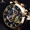 Forsining Gold Mens Watches Top Brand Luxury Automatic Men Watches Automatic Tourbillon Mechanical Wrist Watch