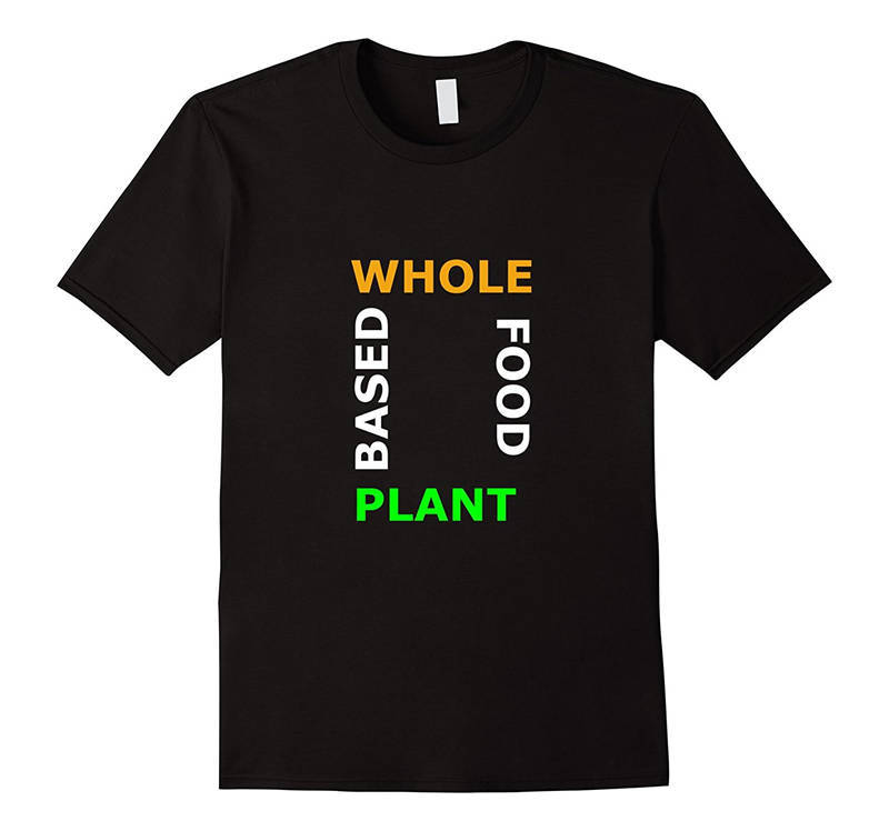 Print T Shirt Short Short Sleeve Print  Whole Food Plant Based  Crew Neck Mens Tee