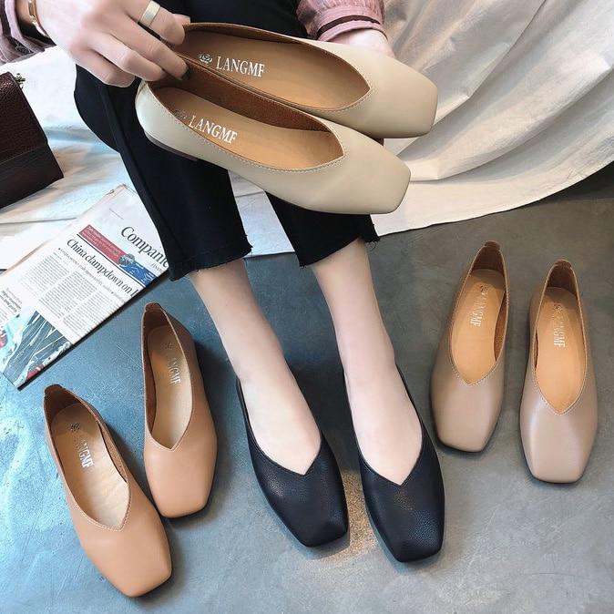 Soft Leather Ballet Flats Handmade Slip