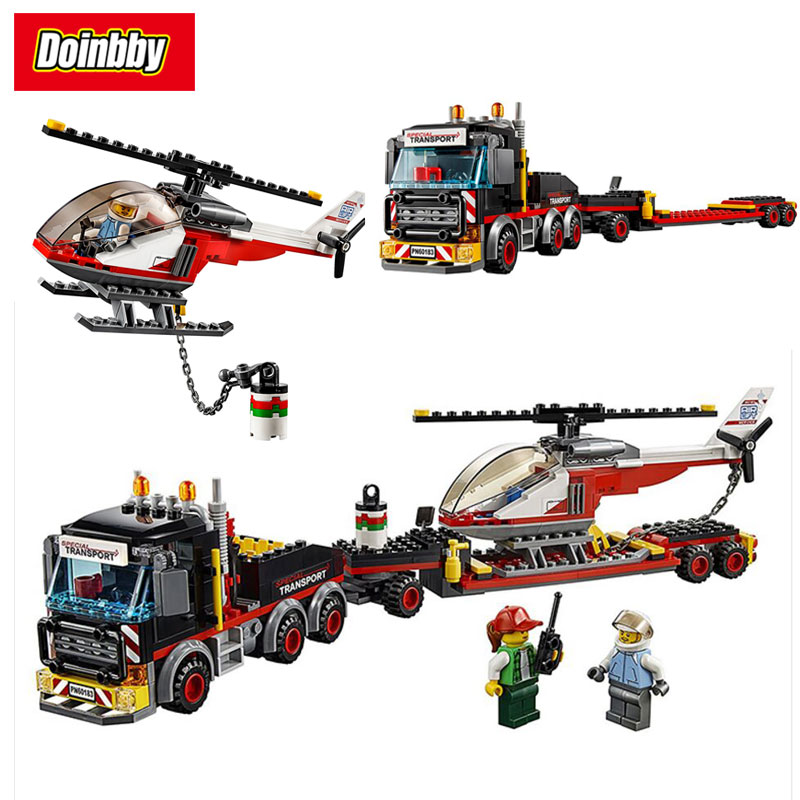 Lepin 02094 Heavy Cargo Transport City Series Model Building Block Bricks Toys Compatible Legoings Helicopter 60183 lepin 02004 356pcs city series volcanic expedition transport helicopter model building blocks bricks toys for children gift