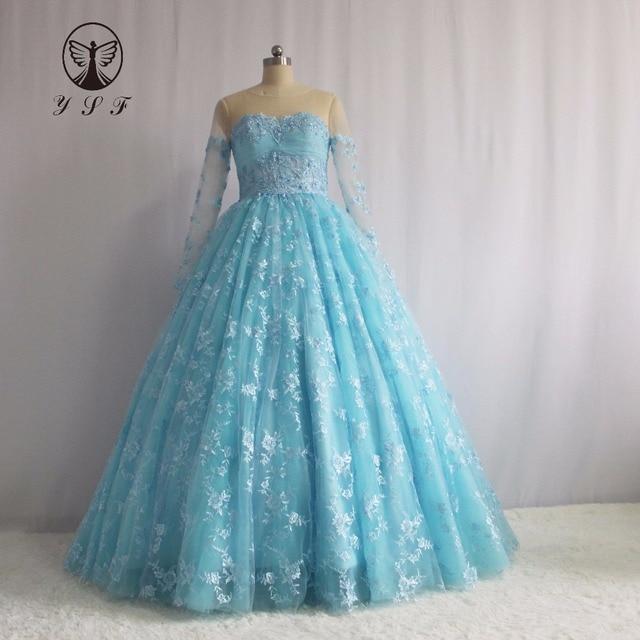 Mode Vestidos De Formature Lichtblauw Jewel Appliqueds Kralen Parels ...