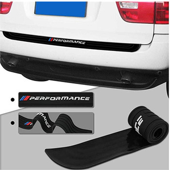 Car Rear Bumper Trim Guard Plate ProtectorFor bmw Performance e39 e46 e90 f30 f10 f01 f20 f32 f33 Z4 X1 2018 Rubber Sticker image