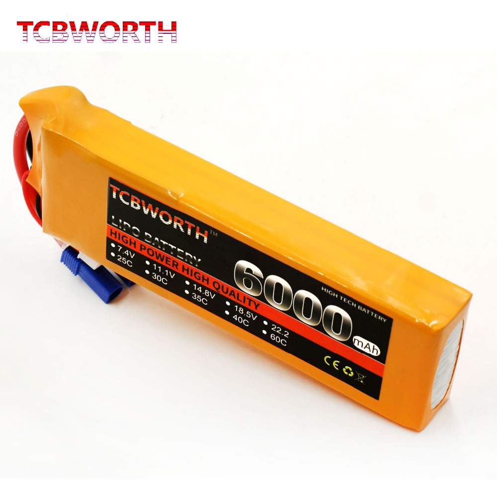 TCBWORTH RC lipo battery 11.1v 6000mAh 30C 3S FOR RC airplane drone car Drone li-po batteria high-rate cell AKKU mos 2s rc lipo battery 7 4v 2600mah 40c max 80c for rc airplane drone car batteria lithium akku free shipping