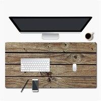 2018 900 * 450mm Large Mouse Pad Wood Grain Anti slip PU Leather Desktop Gaming Mousepad for CS GO dota 2 lol Mouse Mat Gamer