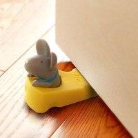 Safety Wedge Doorstop Door Stops Cute Cartoon Cute Mouse Door Stopper Silicone Child Baby Safety Door