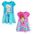 2015 nuevas muchachas vestido Elsa traje de verano los niños de dibujos animados ropa Ariel princess Dress niños encantadores del bebé vestidos lindos